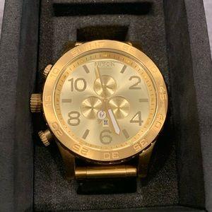 Nixon Men's Gold 51-30 Chrono